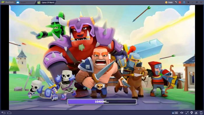 Game of Warriors with Bluestacks